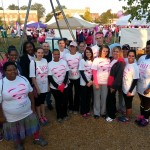 Social Work Students who completed the Susan Komen Race for the Cure.