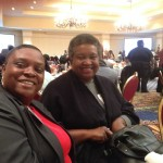 Angela Adams and Jackie Parker, education specialist for the Child Welfare Training Academy